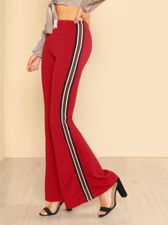 Multi Colored Striped Pants RED