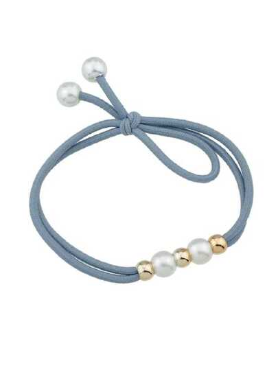 Gray Simple Elastic Headbands Women Hairwear