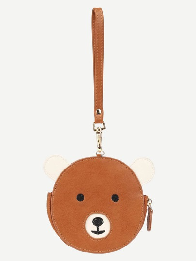 Bear Design Round PU Wallet