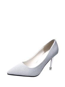Pointed Toe Glitter Stiletto Heels