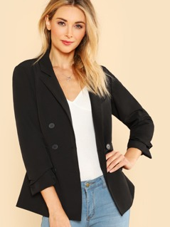 Slim Fit Double Breasted Blazer