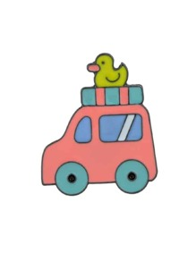 Car Colorful Enamel Pattern Brooch For Women Girl