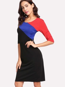 Cut And Sew Vented Back Dress