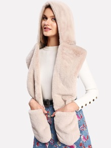 Faux Fur Scarf With Hat And Gloves