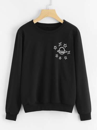 Planet Print Pullover