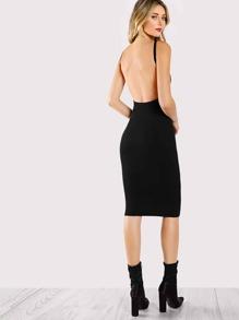 Low Back Pencil Dress