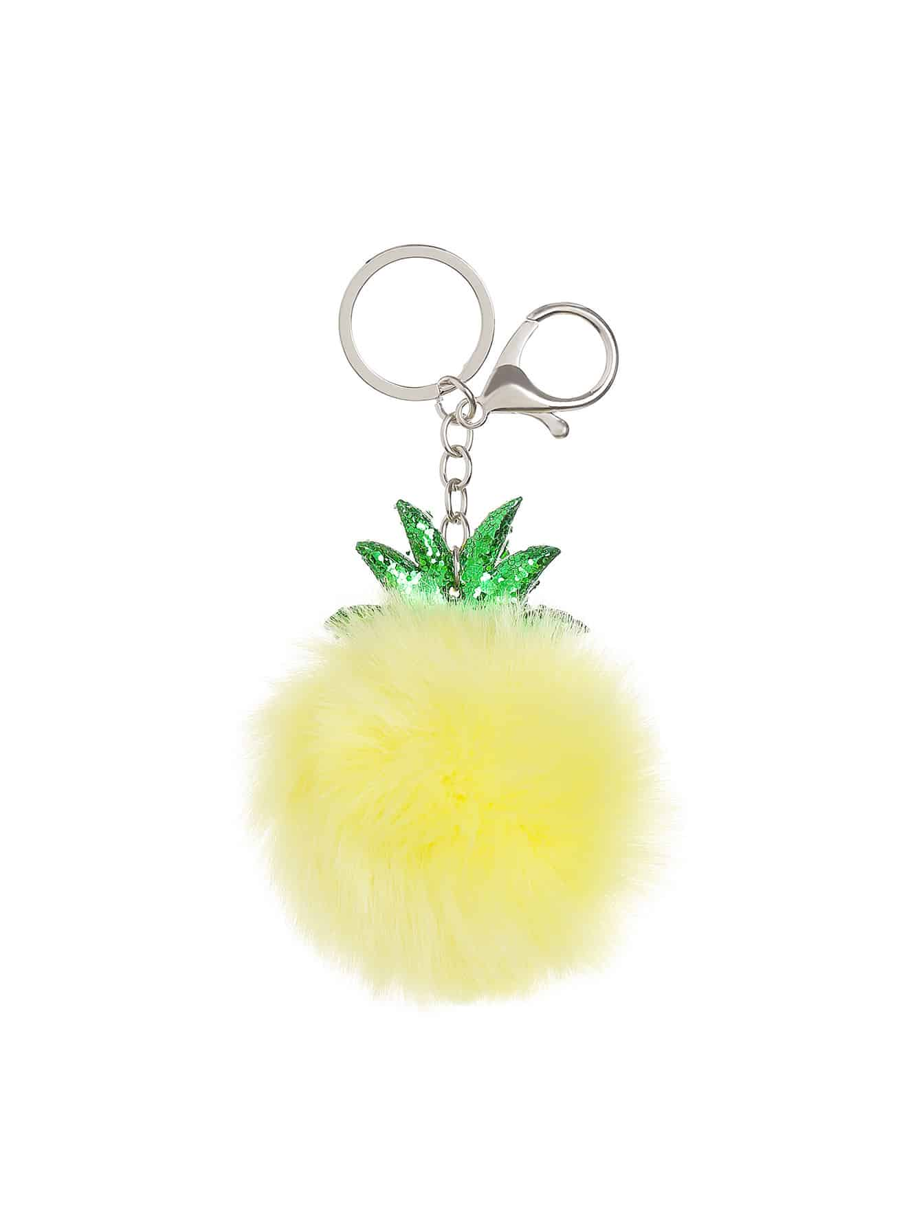 Pineapple Shaped Keychain With Pom Pom массажный стол us medica master