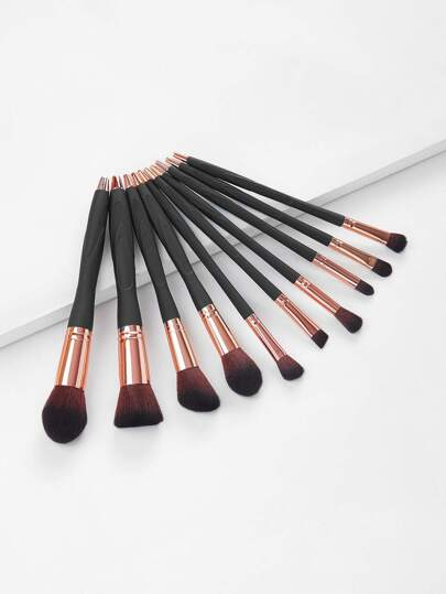 Soft Makeup Brush Set 10pcs