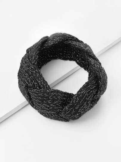 Mixed Woven Knit Headband