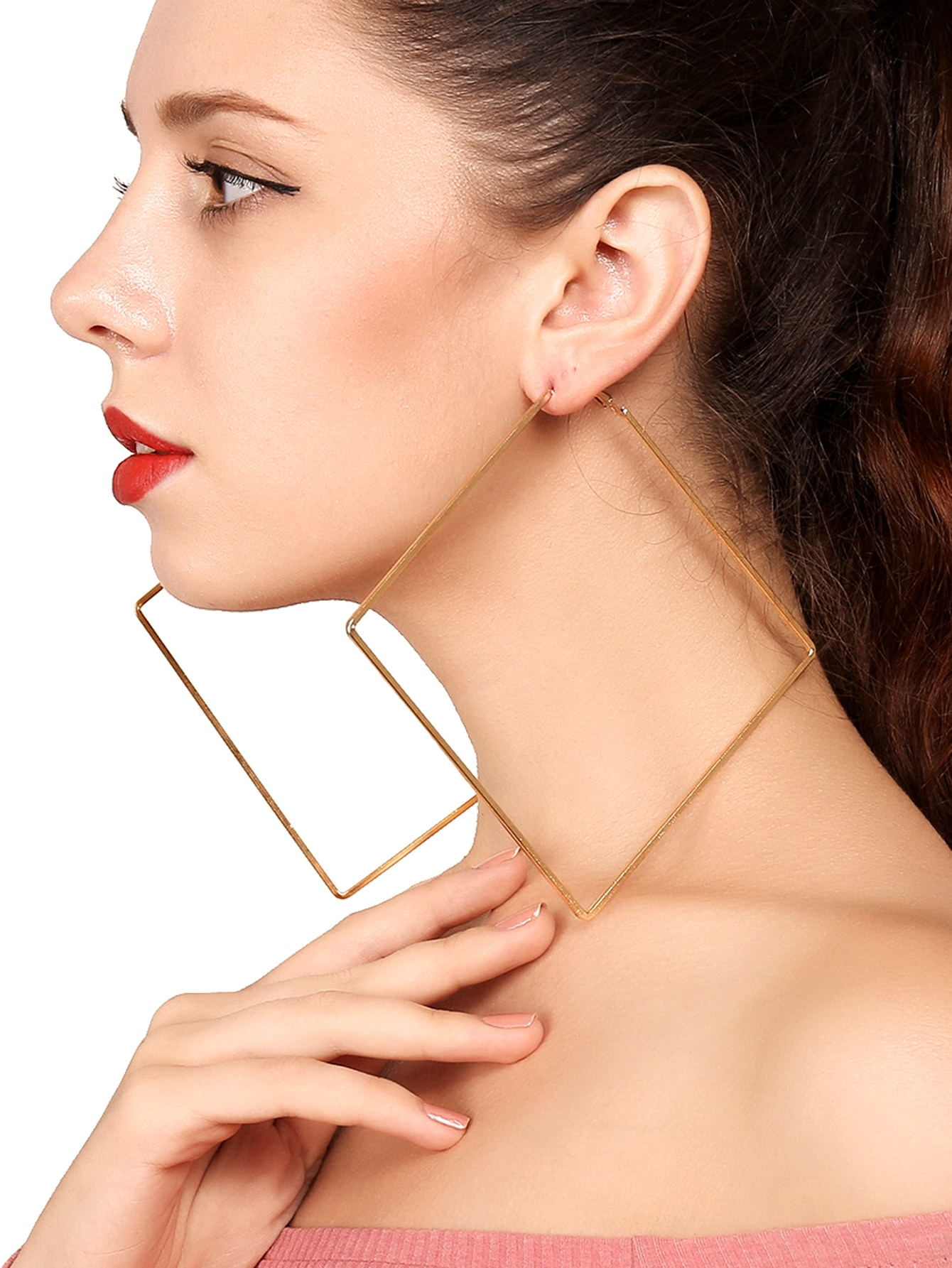 Geometric Hoop Earri...