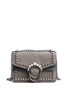 Faux Pearl Decor Chain Bag