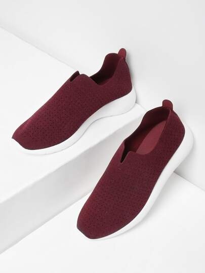 Suede Low Top Slip On Sneakers