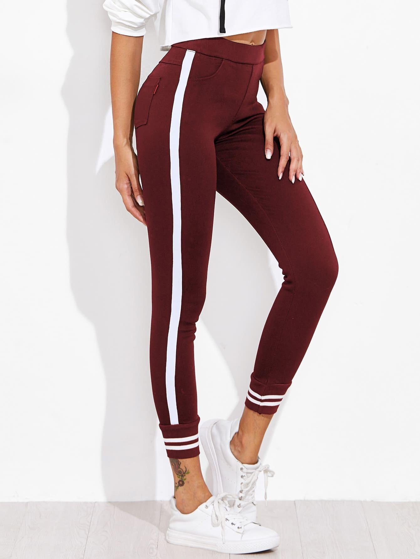 Image of Contrast Stripe Side Pants