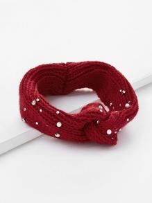 Faux Pearl Detail Twist Headband