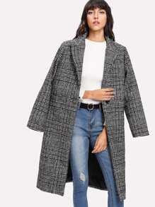 Manteau en tartan à carreaux