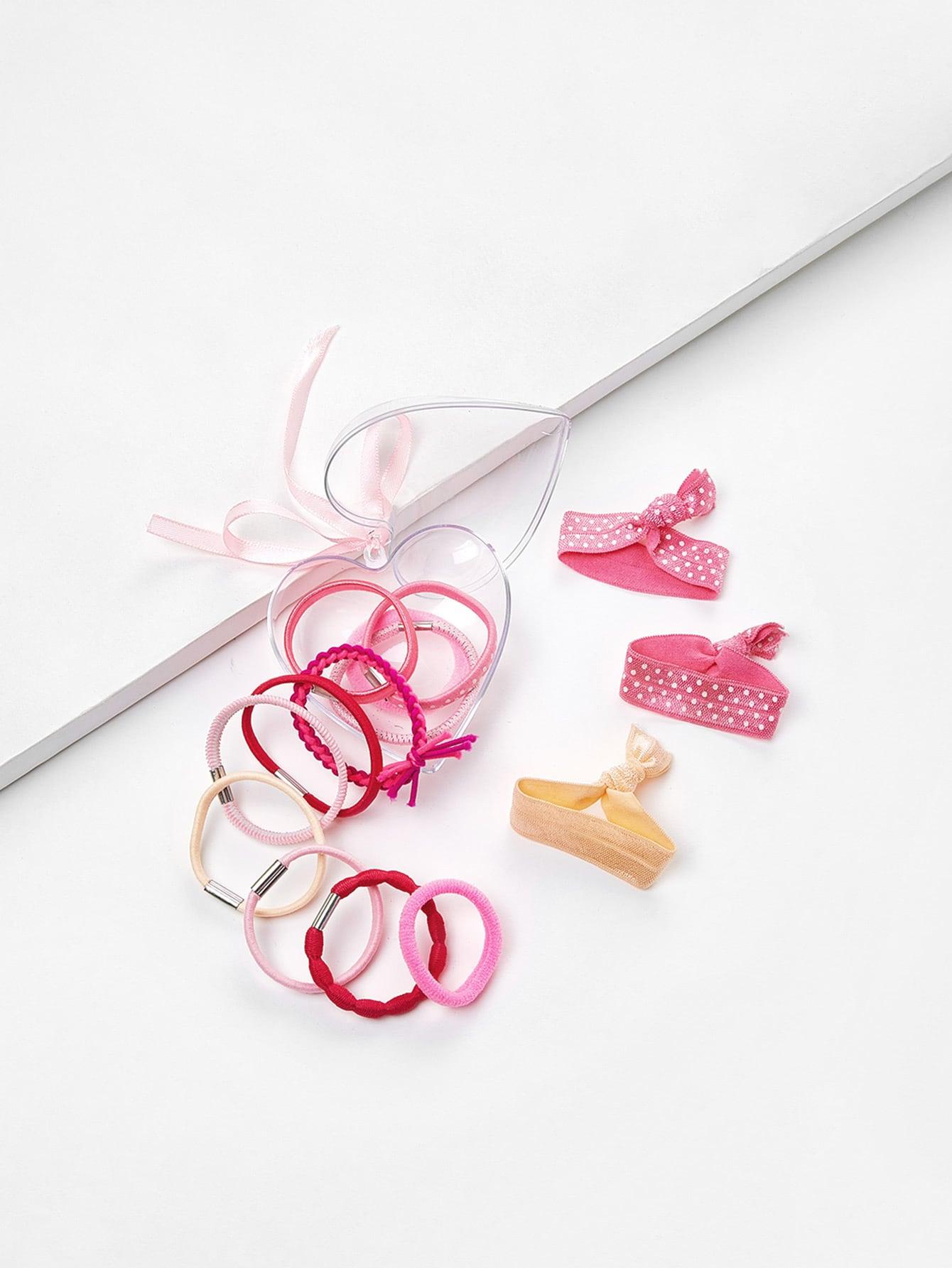 Polka Dot Knot Hair Tie Set