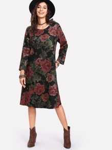 All Over Florals Tunic Dress