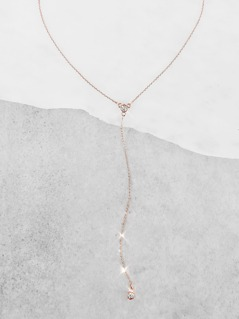 Lariat Diamond Accent Necklace GOLD