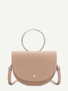 Flap Saddle PU Shoulder Bag