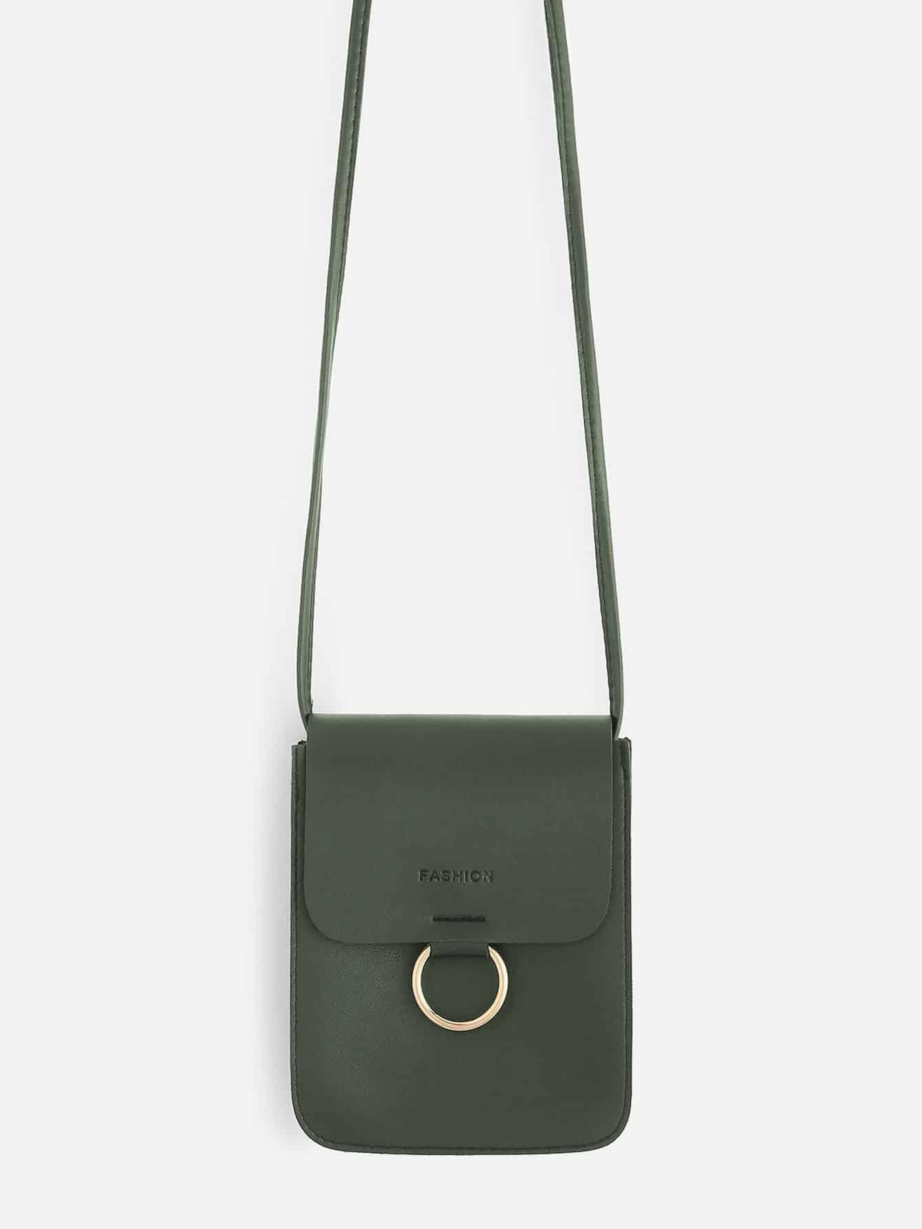 Ring Front Flap Pouch Bag ring front flap shoulder bag