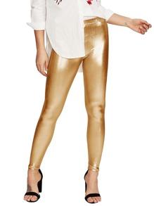 Metallic Elastic Waist Pants
