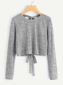 Tie Back Knit Tee