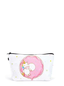Doughnut & Animal Print Zipper Pouch