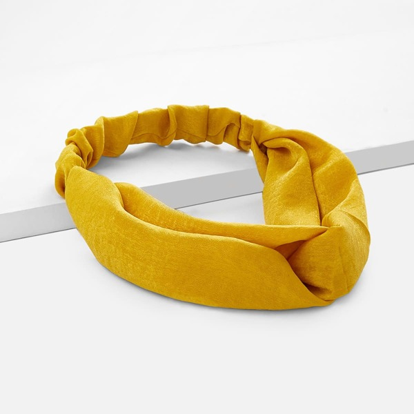 Twist Design Headband, Yellow
