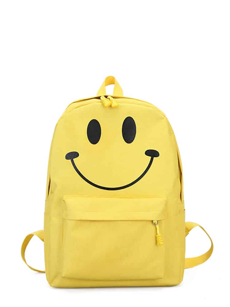 Emoji Detail Pocket Front Backpack