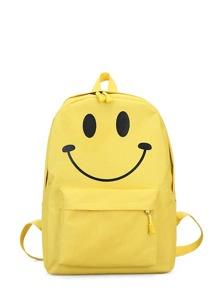 Emoji Detail Pocket Front Backpack