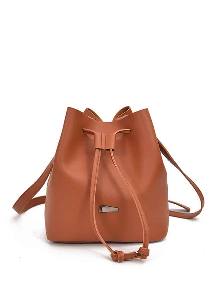 Drawstring Bucket Bag weave drawstring bucket bag