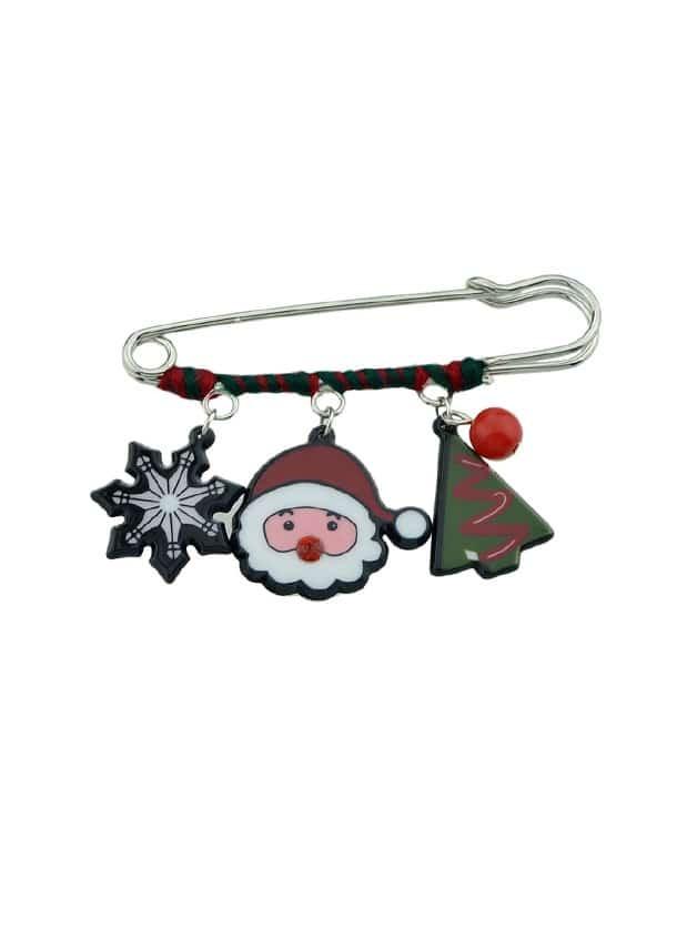 Snowflake Snowman Christmas Tree Pattern Brooches snowflake snowman christmas tree pattern brooches
