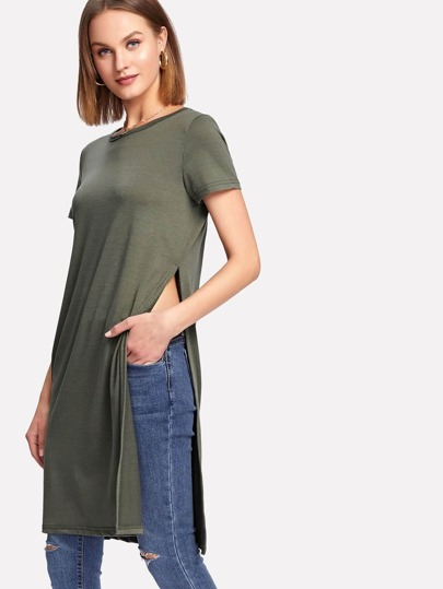 Split Side Long Tee