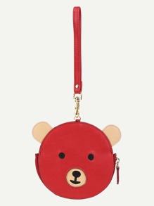 Bear Design Round PU Wallet