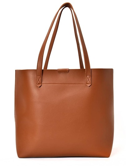Minimalist PU Tote Bag