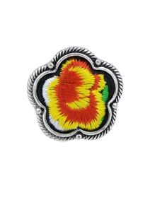 Yellow Handmade Embroidery Flower Finger Rings