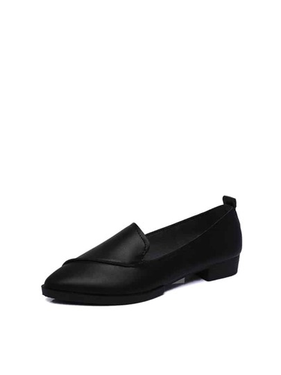 Pointed Toe Flat Loafers