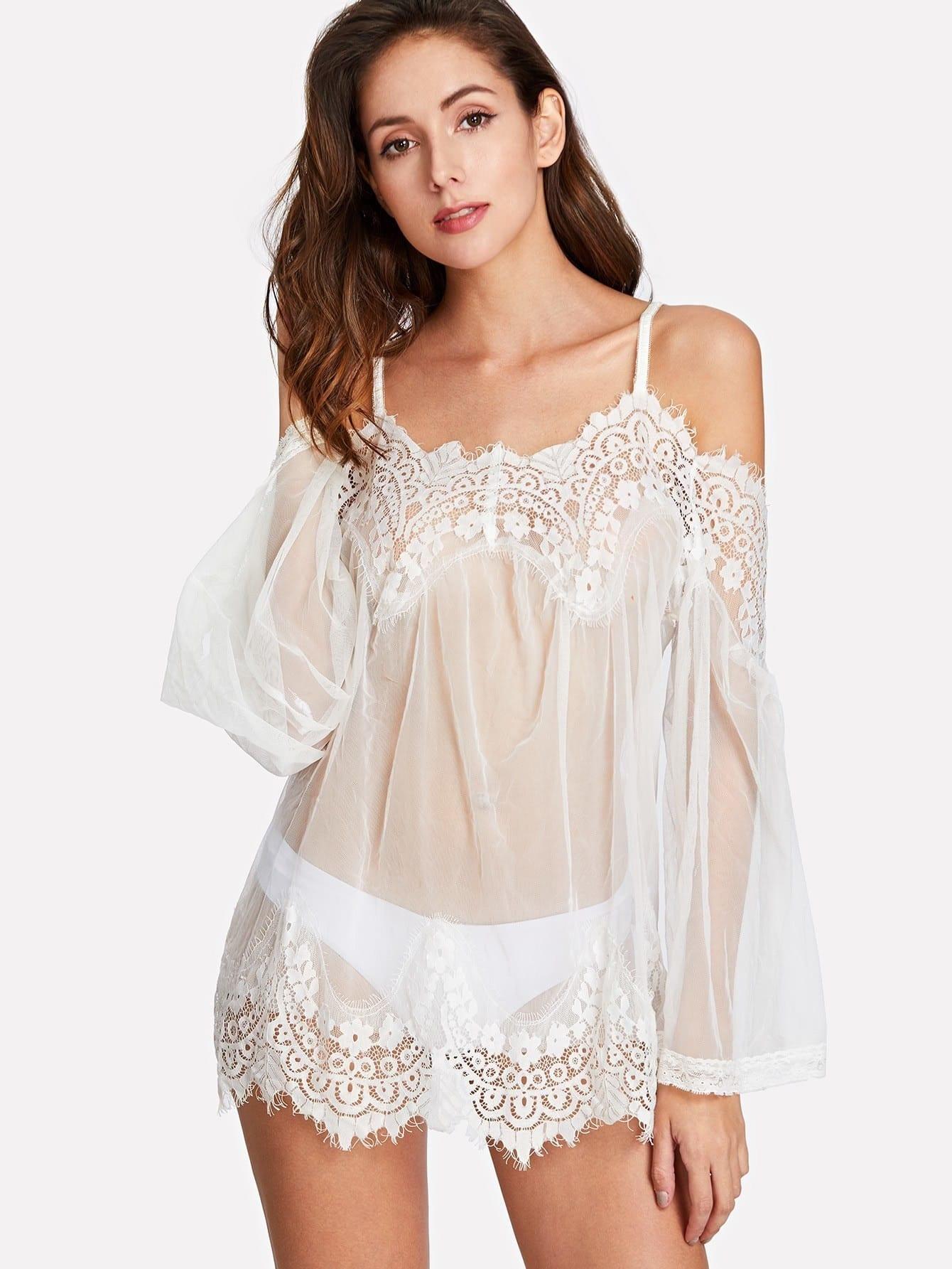 Купить Модная ночная сорочка и модные трусики, Julianac, SheIn