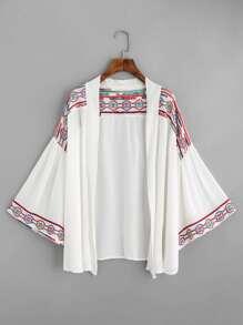 Kimono con ricamo geometrico