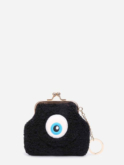 Eye Pattern Kiss Lock Purse