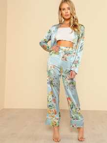 Tropical Print Blazer & Pants Co-Ord