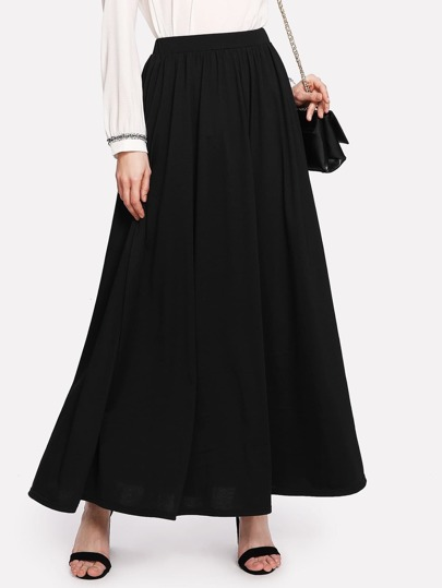 Full Length Solid Skirt