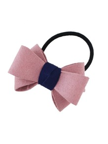 Pink Flannel Bowknot Headbands Women Hairwear
