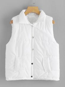 Slanted Front Pockets Vest