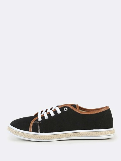 Two Tone Accent Sneakers BLACK