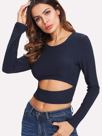 Cutout Crop T-Shirt