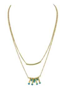 Gold Simple Pendant Multi-Layer Necklace