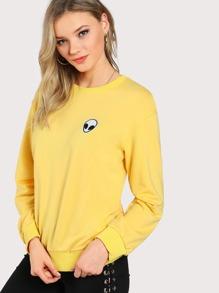 Alien Applique Sweatshirt
