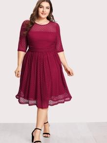 Lace Overlay Swing Dress