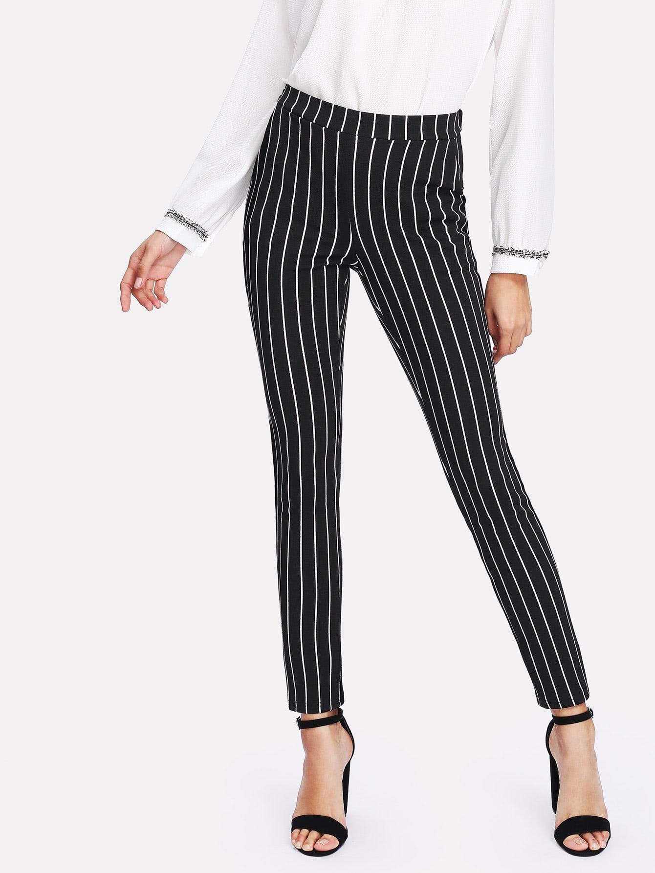 Купить Модные брюки в полоску, Gabi B, SheIn